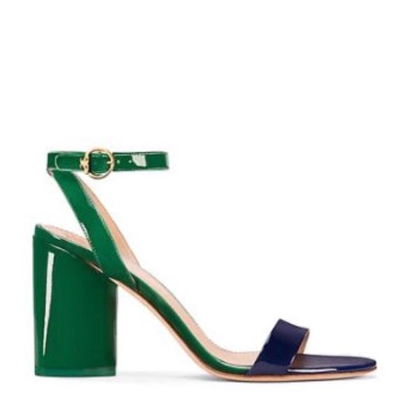 75534c22082 Tory Burch Elizabeth 2 Sandal Navy Emerald 8.5